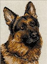 German Shepherd Counted Cross Stitch Kit-9.5