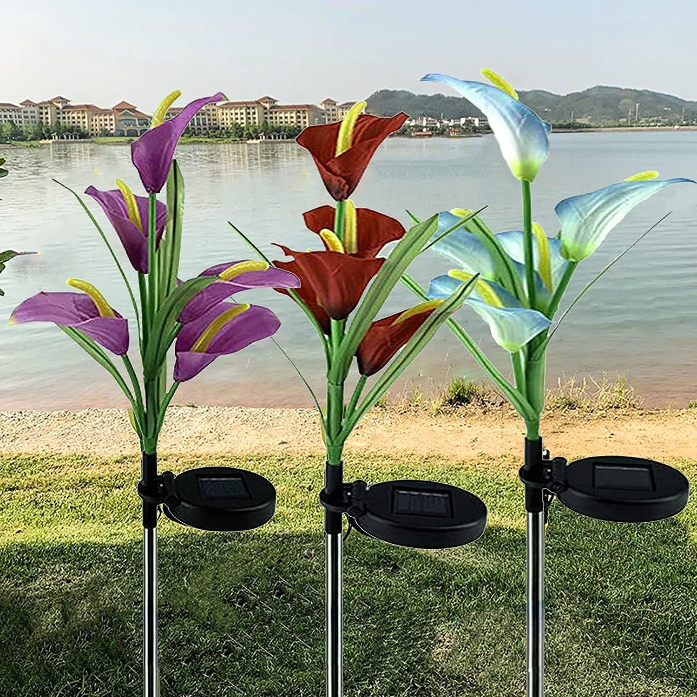 XVZ Outdoor Dedication Solar Garden Stake 3 2021 new Flowe Upgraded Pack Light