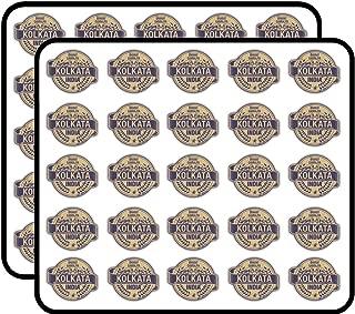 Kolkata City India Grunge Travel Stamp Sticker for Scrapbooking, Calendars, Arts, Kids DIY Crafts, Album, Bullet Journals 50 Pack