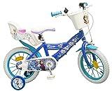 Pik&Roll Girls Frozen Kinderfahrrad 14, blau