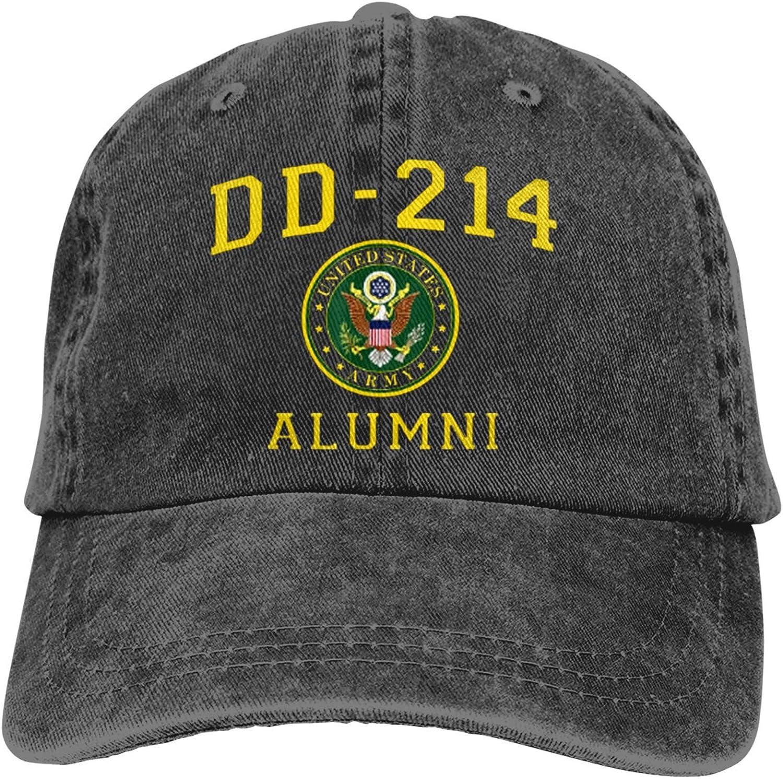 TSNPNA U.S. Army Veteran Dd-214 Alumni 1 Baseball Caps Adult Adjustable Denim Cap