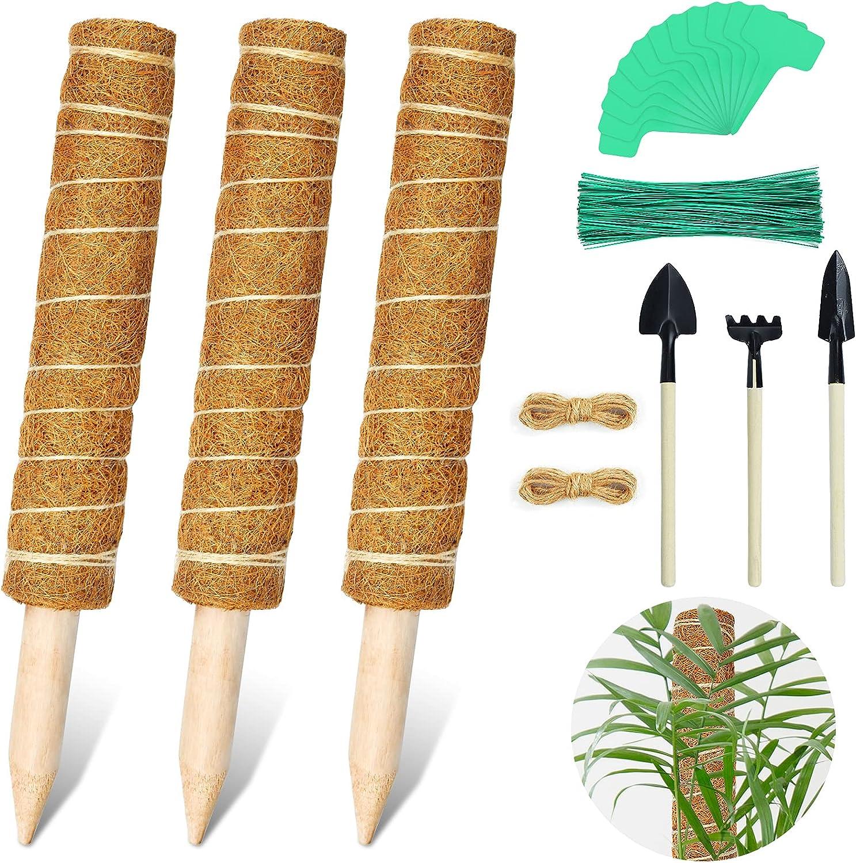 cheap EAONE 48 Inches Moss Poles- 3PCS Coir Memphis Mall Totem Pole Stackabl 15.7''