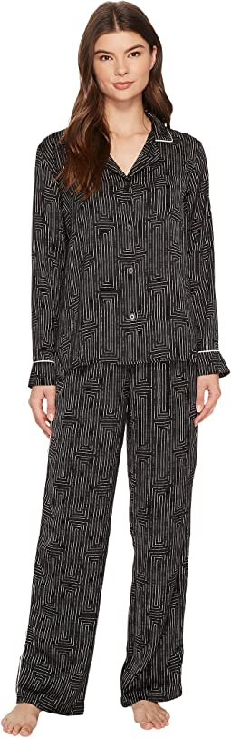 DKNY - Satin Long Sleeve PJ Set