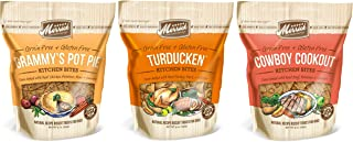 Merrick Grain Free Kitchen Bites Dog Treats 3 Flavor Variety Bundle: (1) Cowboy Cookout, (1) Grammy's Pot Pie and (1) Turducken, 9 Ounces Each (3 Bags Total)