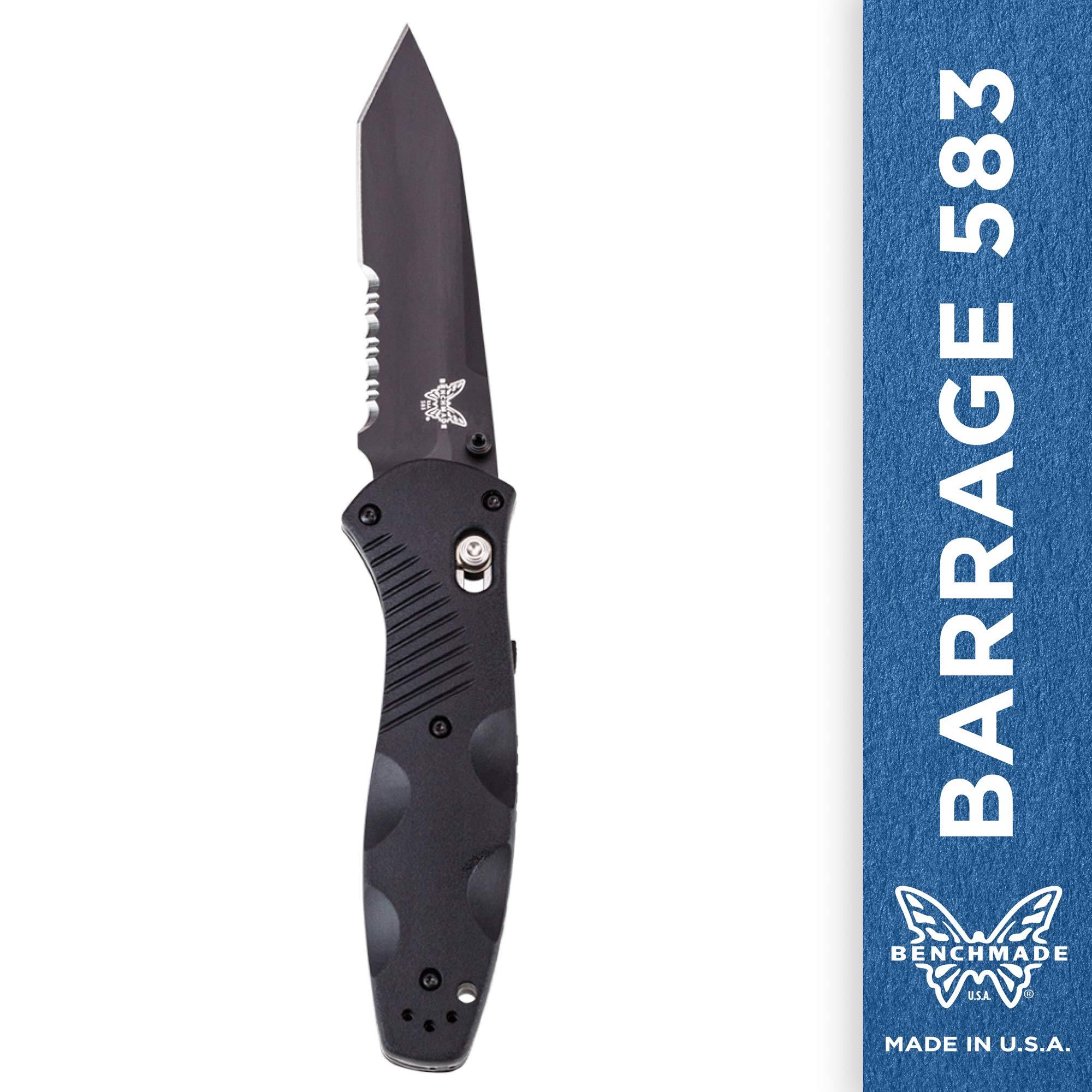 Benchmade Knife 583SBK Barrage Black
