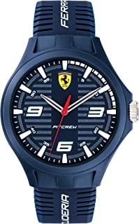 Scuderia Ferrari Pit Crew Analog Blue Dial Men's Watch-0830779