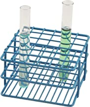 Blue Epoxy Coated Steel Wire Test Tube Rack, 36 Holes, Outer Diameter permitted of tubes 10-13mm or less , 6 X 6 Format