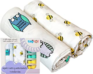 My Tiny Tot Muslin Swaddle Blanket Baby Blanket (2-Pack)...