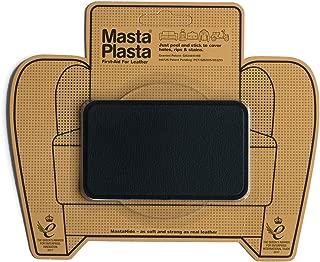 MastaPlasta Self-Adhesive Patch for Leather and Vinyl Repair, Medium, Black - 4 x 2.4 Inch