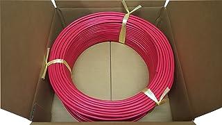 日本製線 高性能ギガビット伝送対応LANケーブル (Cat5e) 100m巻(赤色) 0.5 - 4P NSEDT (RD) (100)