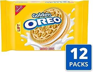 OREO Golden Sandwich Cookies, Vanilla Flavor, 12 Resealable 14.3 oz Packs