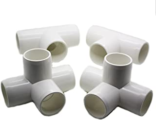 4 Way Tee PVC Fitting - Build Heavy Duty PVC Furniture - Grade SCH 40 PVC 1