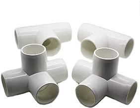 4 Way Tee PVC Fitting - Build Heavy Duty PVC Furniture - Grade SCH 40 PVC 1