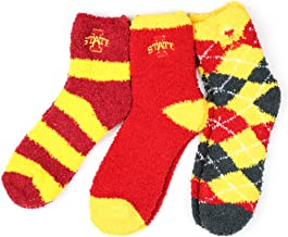 NCAA Iowa State Cyclones 3 Piece Fuzzy Sock Bundle, Multicolor, One Size Fits Most