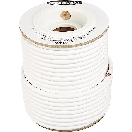 Amazon Basics - Cavo per altoparlanti, diametro 2,032 mm, in rame senza ossigeno puro al 99,9%, 30,5 m