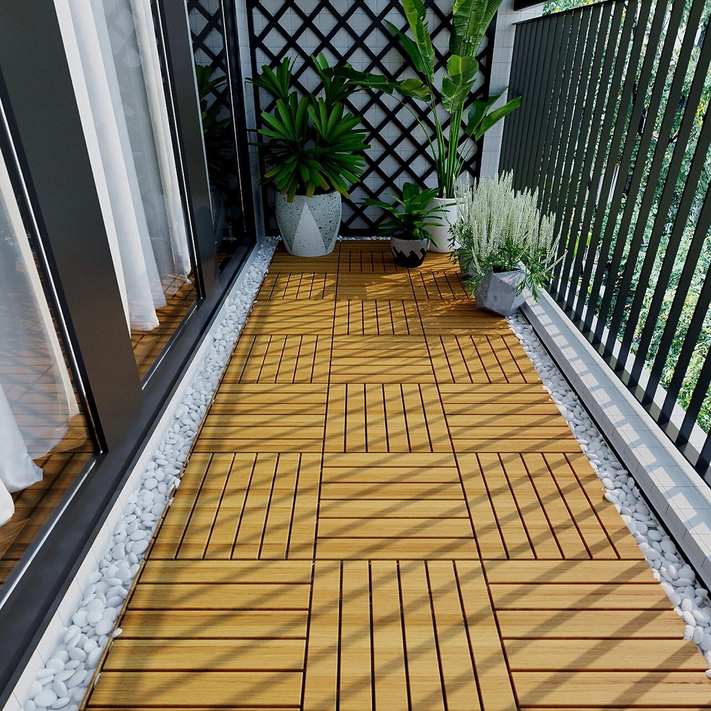 Flooring Many popular brands Tiles GoujxcyOutdoor Max 69% OFF Patio Floor Wooden Dance