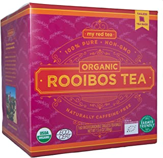 Rooibos Tea, USDA Certified Organic Tea, MY RED TEA. Tagless South African, 100% Pure, Single Origin, Natural, Farmer Frie...
