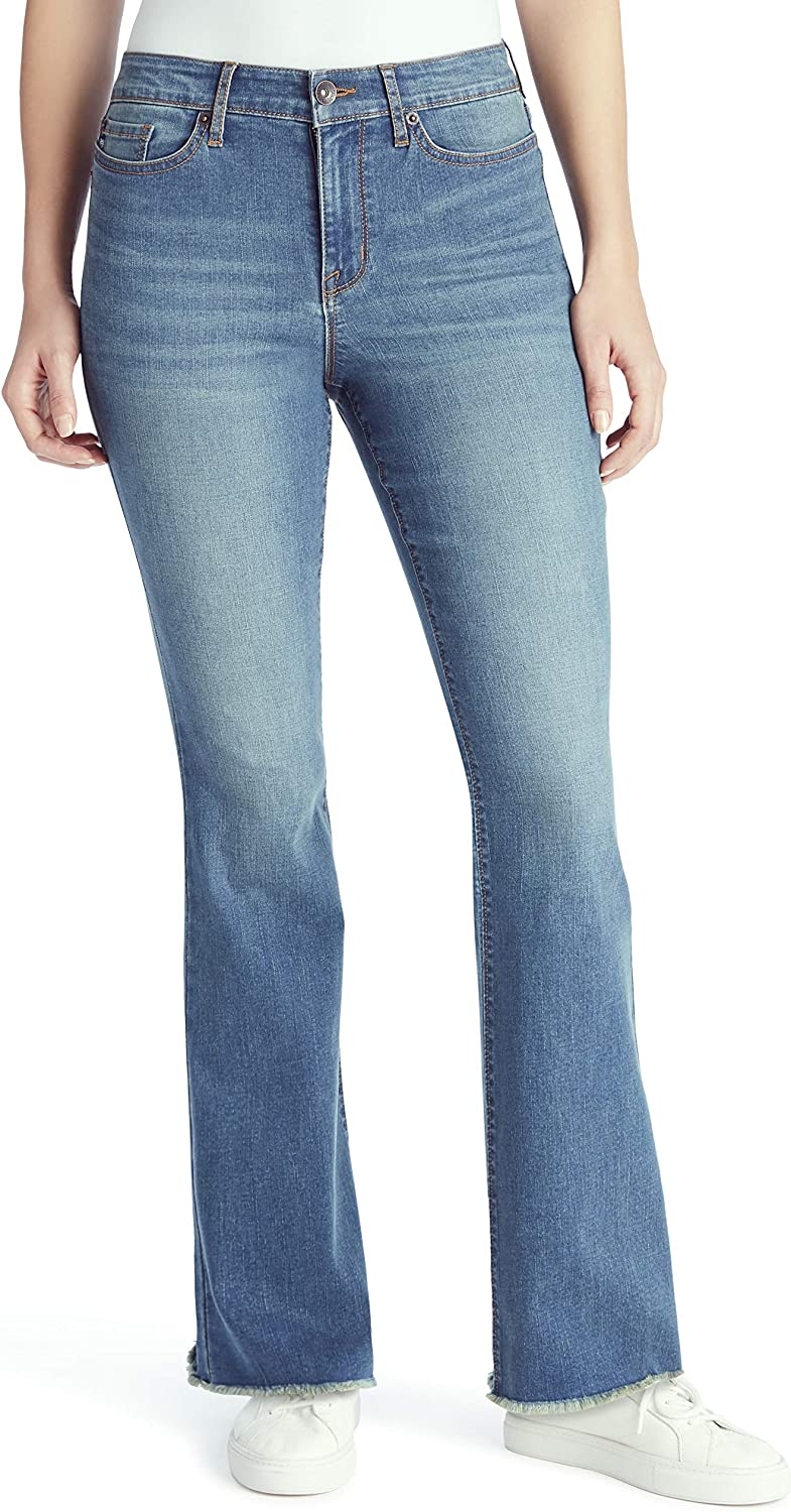 CHAPS Jeans Recommended Women's Mid Selling rankings Rise Cut Jean Boot Full Length