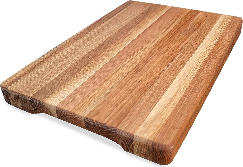 NaturalDesign Cutting Board 16 X 10 X 1 6 Inch Edge Grain Chopping Block Wood Maple Oak Hardwood Extra Thick Appetizer Serving Platter Durable Resistant Renewed