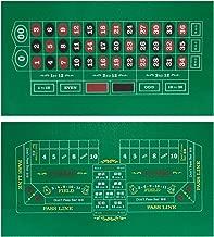 Double-Sided Craps Table & Roulette Casino Felt | Convenient, Space-Saving 36