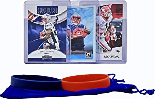 Sony Michel Football Cards (3) Assorted Bundle - New England Patriots Trading Card Gift Set