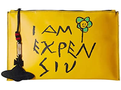 Vivienne Westwood Punk Pouch (Yellow) Handbags