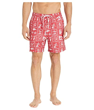 Southern Tide Reyn Spooner Bandana Swim Trunks (Roman Red) Men
