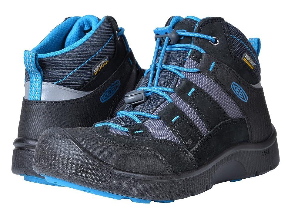 Keen Kids Hikeport Mid WP (Little Kid/Big Kid) (Black/Blue Jewel) Boys Shoes