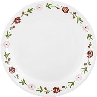 Corelle Livingware Spring Pink Medium Plate Set Set of 6 Multicolour