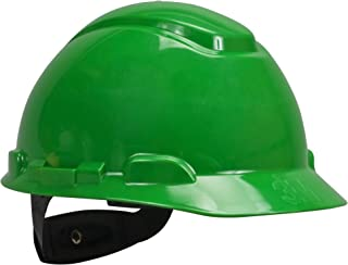3M Hard Hat, Green 4-Point Ratchet Suspension H-704R (Pack of 1)