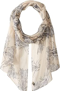 Floral Toile Silk Scarf