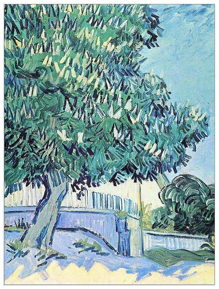 ArtPlaza TW91028 Van Gogh Vincent - Blossoming Chestnut Tree II Decorative Panel 27.5x35.5 Inch Multicolored yopizjzeo7569