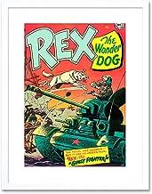 The Art Stop Comic REX Wonder Dog Tank Soldier Gun Battle USA Framed Print F97X3058