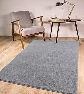 LOCHAS Shag Area Rug Modern Rug for Living Room 3'x5' Indoor Carpet for Bedroom, Soft & Cozy Shaggy Rugs Non-Slip Kids Play Mat, Gray