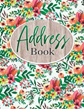 Address Book: Address Book Large Print For Seniors or Elderly : Large Address Books With Alphabet Index : Name, Address, P...