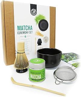Jade Leaf - Complete Matcha Ceremony Gift Set - Ceremonial Grade Organic Matcha Green Tea Powder Tin, Bamboo Matcha Whisk ...