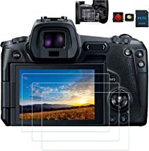 محافظ صفحه PCTC EOS R محافظ صفحه LCD و محافظ صفحه نمایش بالا سازگار برای شیشه معتدل Canon EOS R (4 بسته)