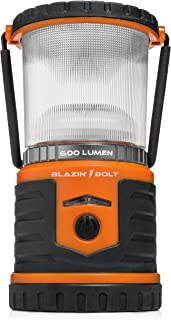Blazin' Bison Battery LED Rechargeable Lantern | 500 Hour Runtime | Power Bank | Storm Light (600 Lumen, Orange)