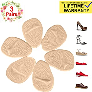 Metatarsal Pads for Womens Heel Cushion Inserts — All Day Pain Relief and Ball of Foot Cushions, 3 Pairs Shoe Inserts Womens Also Suitable for Mens