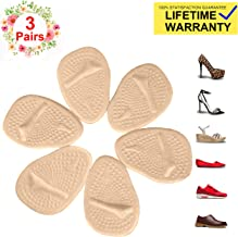 Metatarsal Pads for Womens Heel Cushion Inserts — All Day Pain Relief and Ball of Foot Cushions, 3 Pairs Shoe Inserts Womens Also Suitable for Mens…