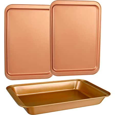 Ayesha Curry 47005 Bakeware 2 piece Cookie Pan Set Copper