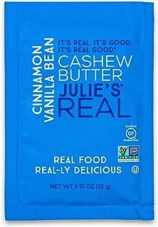 Julie's Real Nut Butter, Cinnamon Vanilla Bean Cashew Butter, Single Serve Packets - 10 PACK