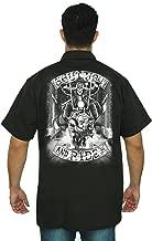 SHORE TRENDZ Men's Mechanic Work Shirt White Shut Up & Ride