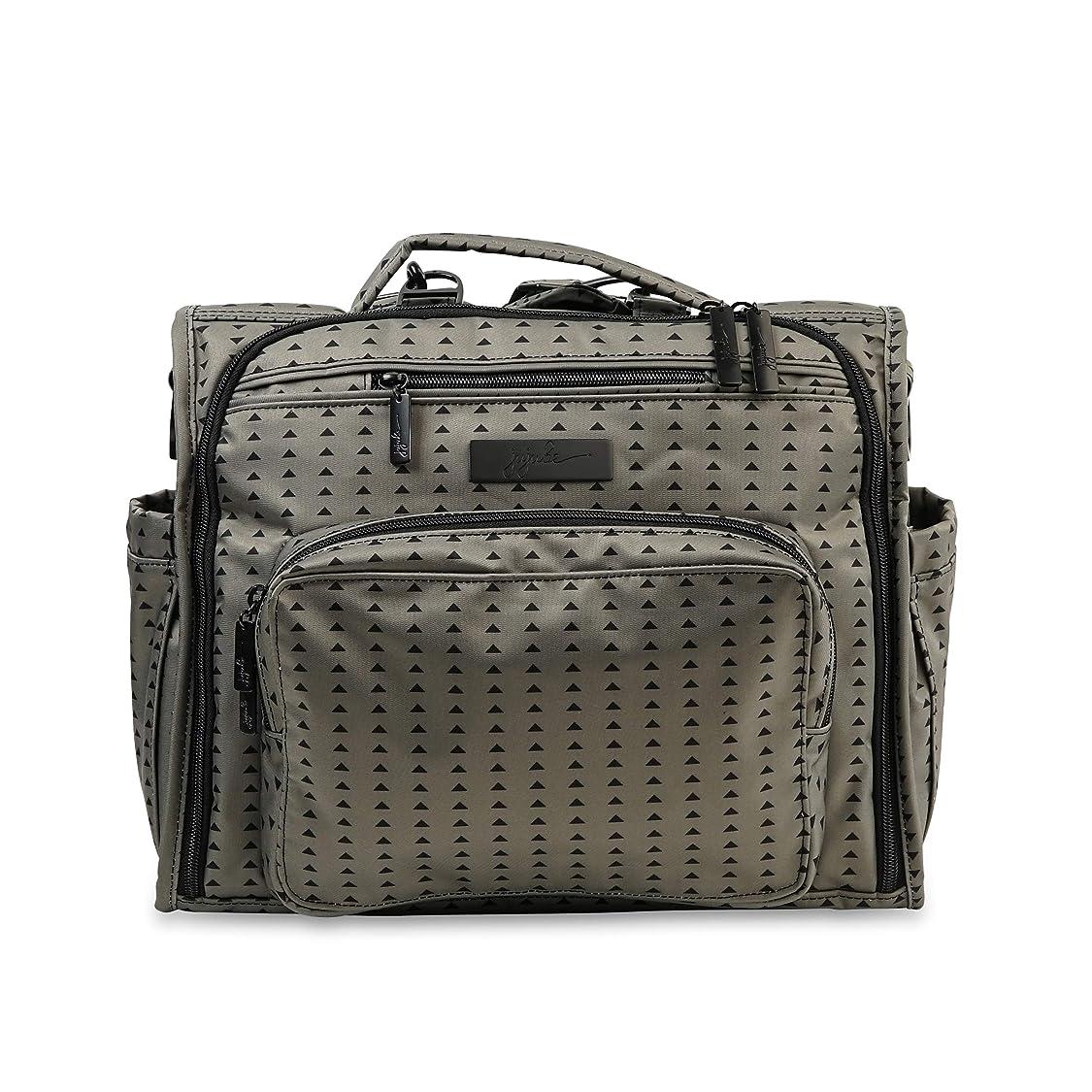 幸運固めるファッションJu-Ju-Be オニキスコレクション B.F.F. コンバーチブルおむつバッグ、ブラックオリーブ。