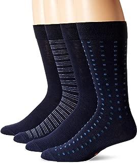 Dockers Men's 4 Pack Patterned Dress Socks