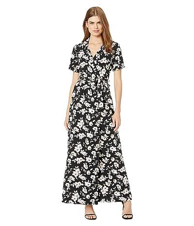 Volcom Servin Up Looks Dress (Black Floral Print) Women