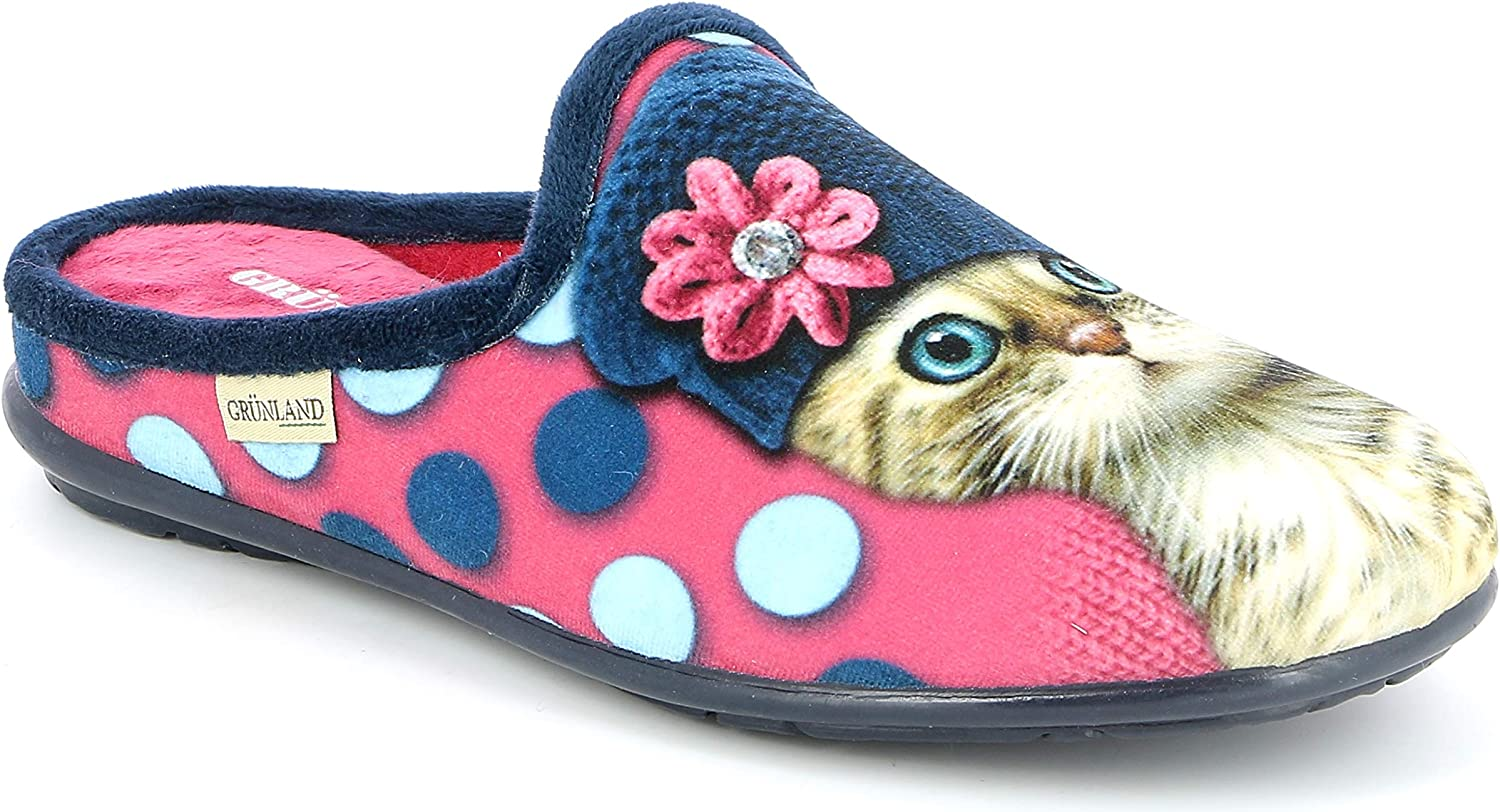 Grunland Women's Faye CI1425 Slippers Cat Print
