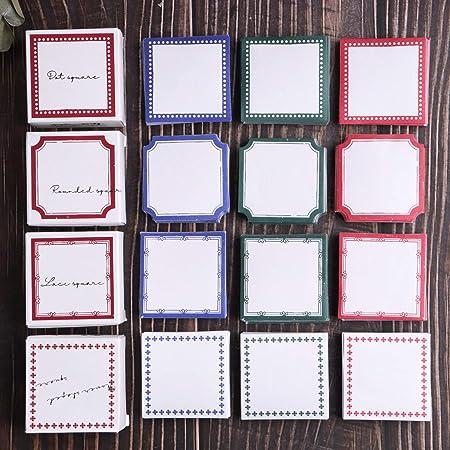 Autocollants de scrapbooking, autocollants en papier de décoration Lychii 600 pièces, autocollants carrés adhésifs pour album de scrapbooking artisanal, calendrier planificateur, bricolage