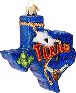 Old World Christmas Ornaments: State of Texas Glass Blown Ornaments for Christmas Tree