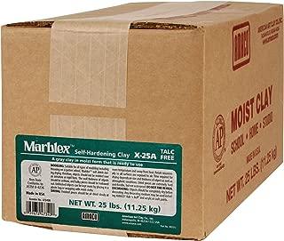 AMACO AMA47340B Marblex Self-Hardening Clay, Gray, 25 lbs.